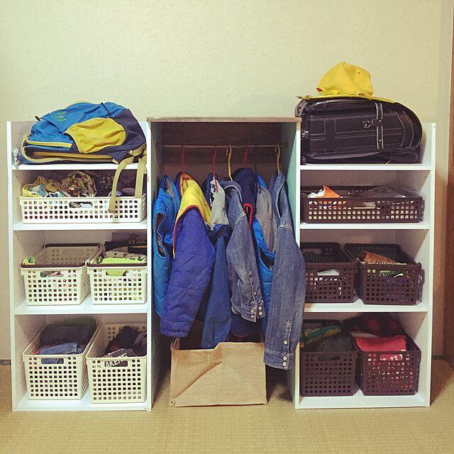 My Shelf,ニトリのカラーボックス,ランドセル置き場,帽子収納,衣類収納,カラーボックス DIY,カラーボックス,セリア yukarigohanの部屋