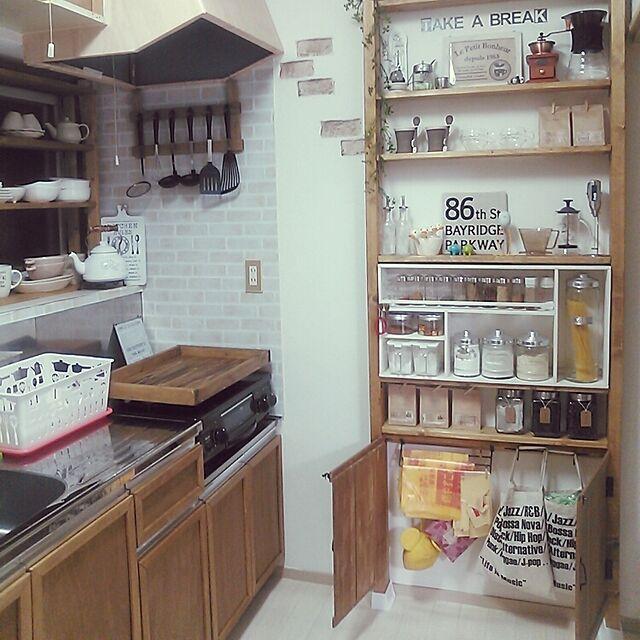 Kitchen,賃貸,一人暮らし,1K,DIY,ディアウォール,スパイスラック,キッチンツール掛け,コンロカバー,ゴミ袋収納,賃貸アパート,セリア,リメイクシート,ダイソー,キッチン雑貨,キッチン収納,キッチン大改造計画中! Ryoの部屋