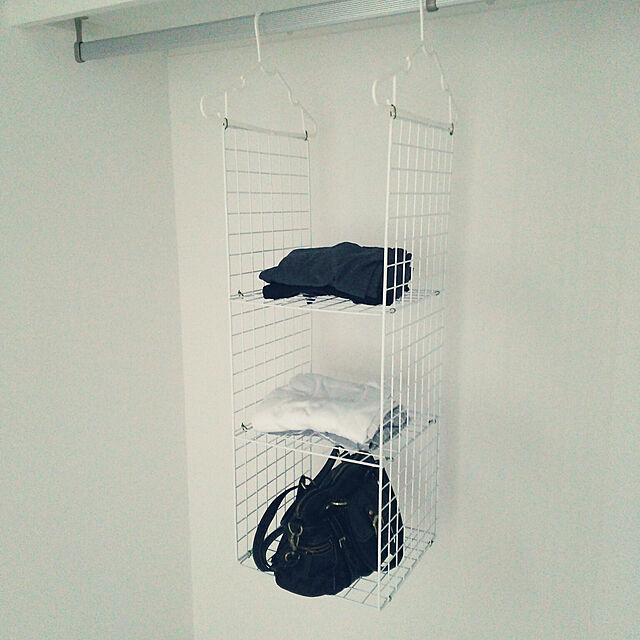 My Shelf,吊り下げ収納,ワイヤーネット,ハンガー,クローゼット収納,パジャマ,部屋着,バッグ Pe-peの部屋