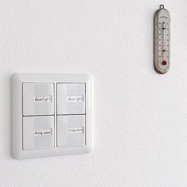 簡単リメイク,アンティーク,温度計,スイッチプレート,スイッチ,すっきりとした暮らし,シンプル,ホワイトインテリア,Entrance azuの部屋