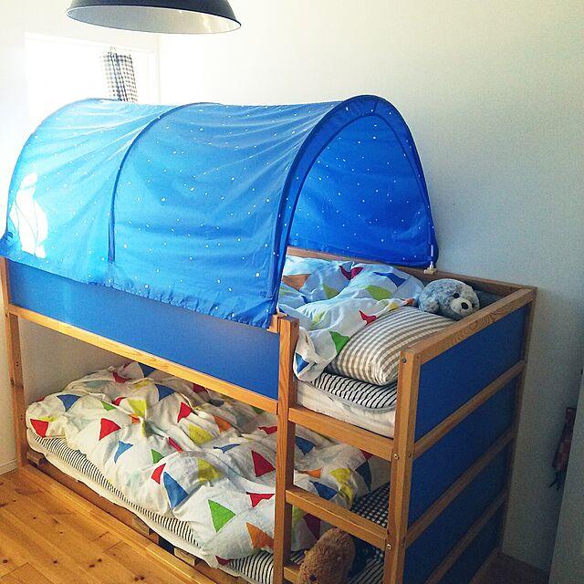 Bedroom,IKEA,こども部屋,二段ベット,ナチュラル,ぬいぐるみ,子ども kankenmama12の部屋
