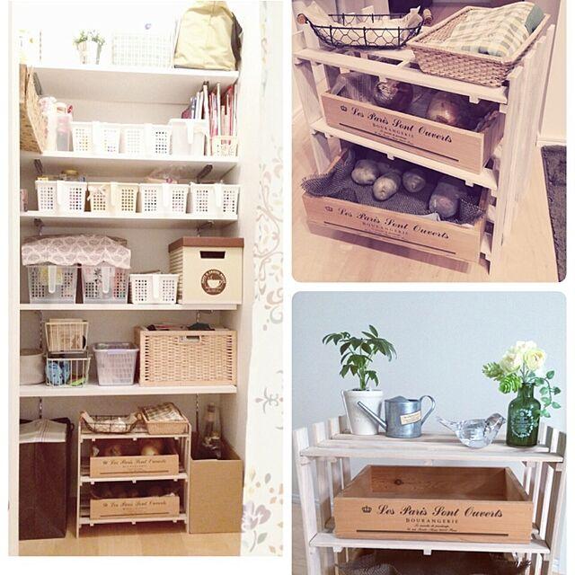Kitchen,根菜ストッカー,パントリー,キッチン収納,セリア,すのこ棚 akko-rinの部屋