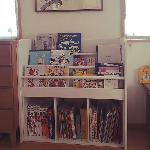 Lounge,パイン材,白くペイント,絵本棚DIY,ニトリのカラーボックス,DIY,子どもと暮らす,こどもと暮らす she.の部屋