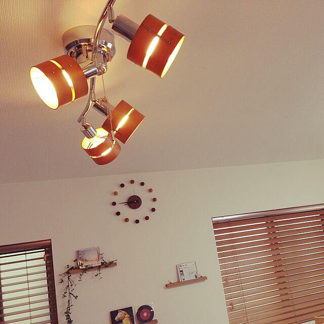 Lounge,ダイニング照明,照明,100均,セリア,壁面ディスプレイ,フェイクグリーン,ウッドブラインド tsumzyの部屋