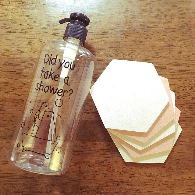 My Desk,お買い物,キャンドゥ,シャンプーボトル,珪藻土コースター,2017.7.2 me_sweetの部屋