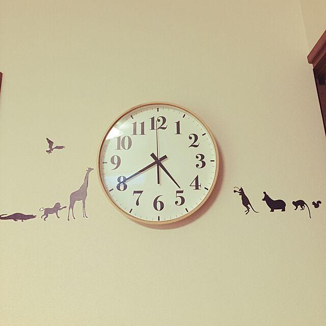 Lounge,ニトリの時計,ウォールステッカー,掛け時計,時計,100均,セリア asamiの部屋