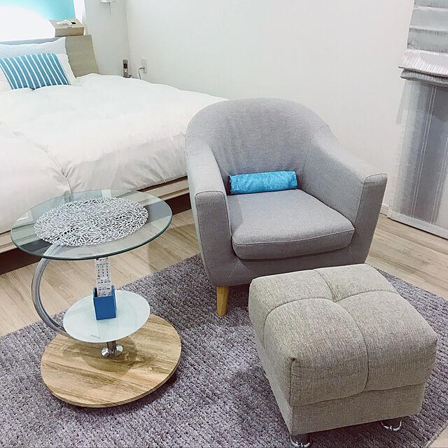 オットマンスツール,ソファ/椅子,ニトリ,リゾート風,Bedroom chii_w35の部屋