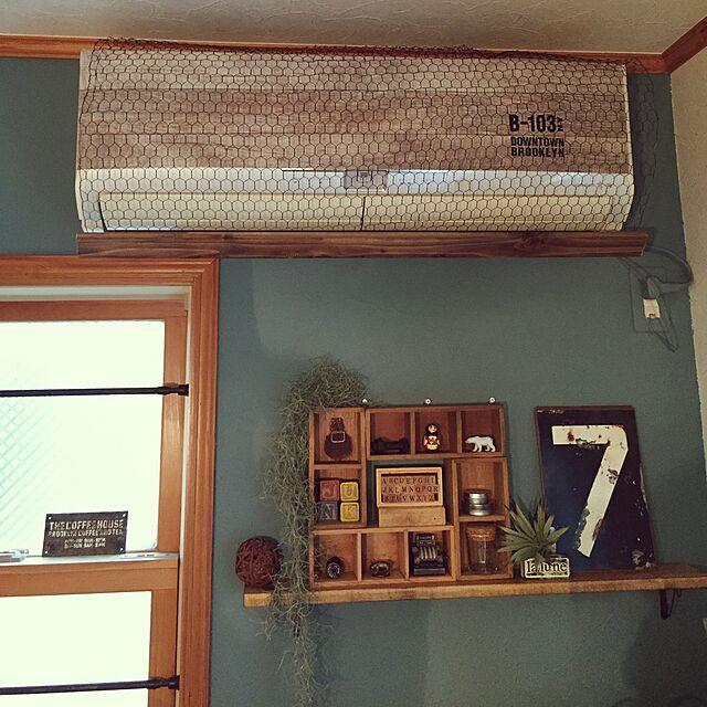 My Shelf,whity colors,エアコン,DIY,植物,いいね&フォローありがとうございます☆,セリア,ブライワックス,男前,雑貨,千葉県民,しただけ asami1130の部屋