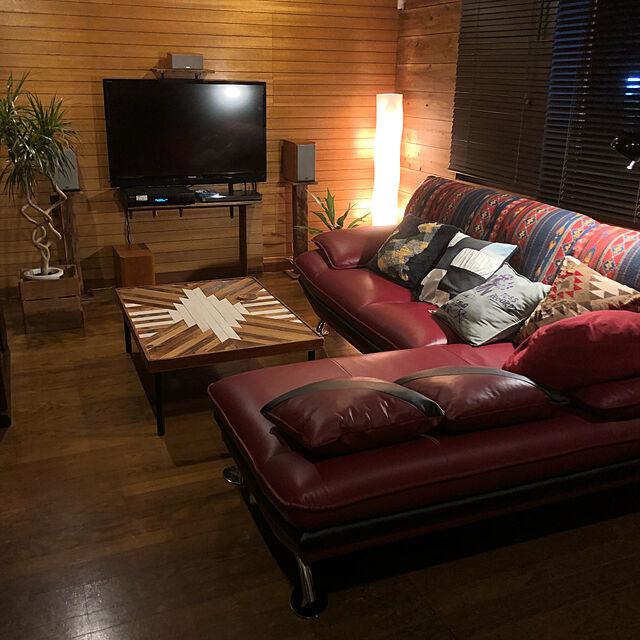 Lounge,寝れるソファ,落ち着く空間,赤いソファ,赤いソファー,ニトリ2018家具モニター,ニトリ,ダイニングテーブル,ソファ,ビンテージ風,植物のある暮らし,植物のある部屋,コウモリラン,NO GREEN NO LIFE,ニトリのクッションカバー Tuttoの部屋