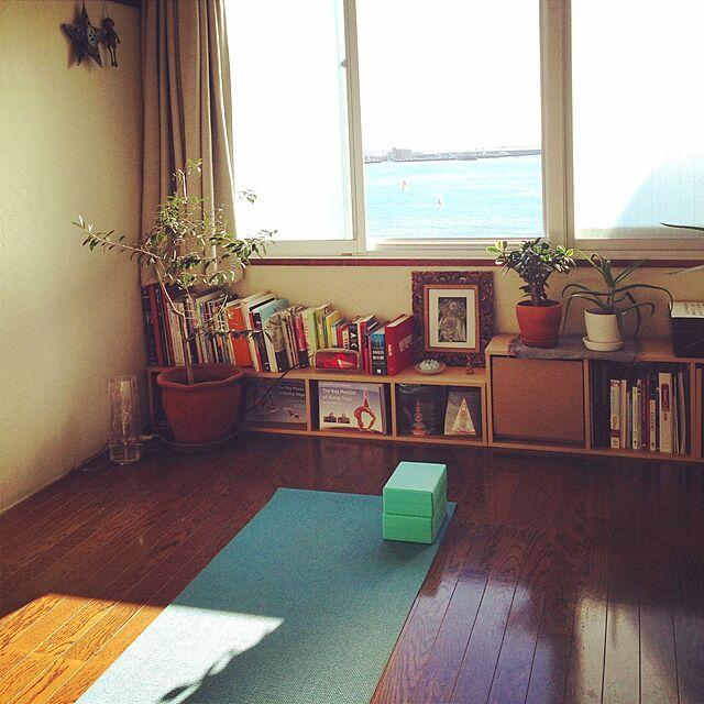 Lounge,トレーニングルーム,海辺の生活,マンション暮らし,海沿いの家,植物,築40年以上,ヨガスペース,ヨガマット,ヨガ mittantneyの部屋