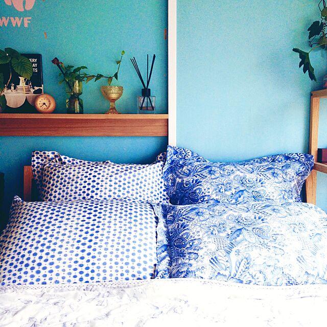 Bedroom,セルフペイント,マリボウル,ディフューザー,目覚まし時計,クッション,飾り棚,夏sale❗️,ZARA HOME rueの部屋