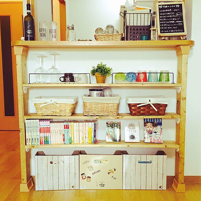 Kitchen,キッチンカウンター,ディアウォール,DIY,カフェ風,ナチュラル nappaの部屋
