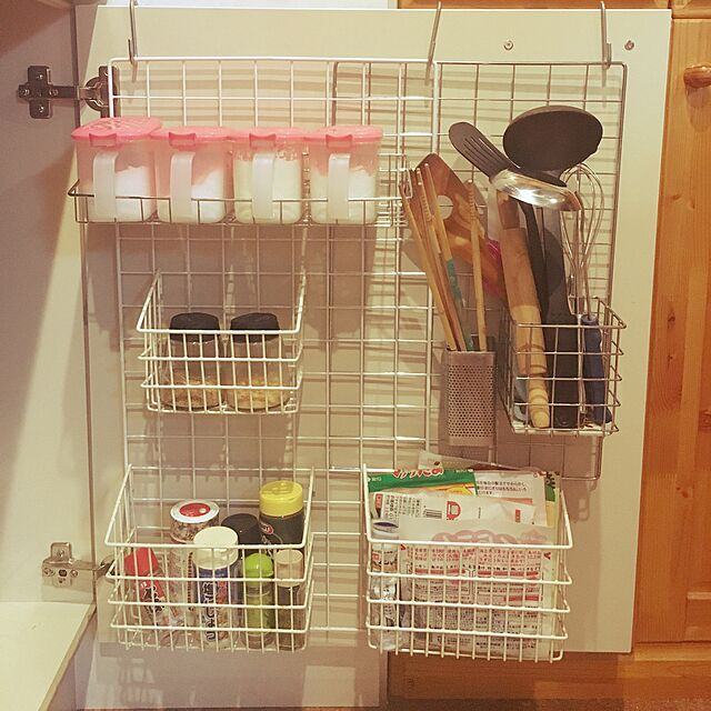 Kitchen,調味料ラック,DIY,100均,一人暮らし,IKEA su_721の部屋