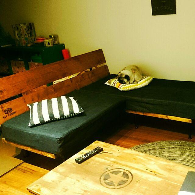 Lounge,DIY,ソファーDIY ,ソファーカバーもDIY TNGT_D.I.Y.FACTORYの部屋