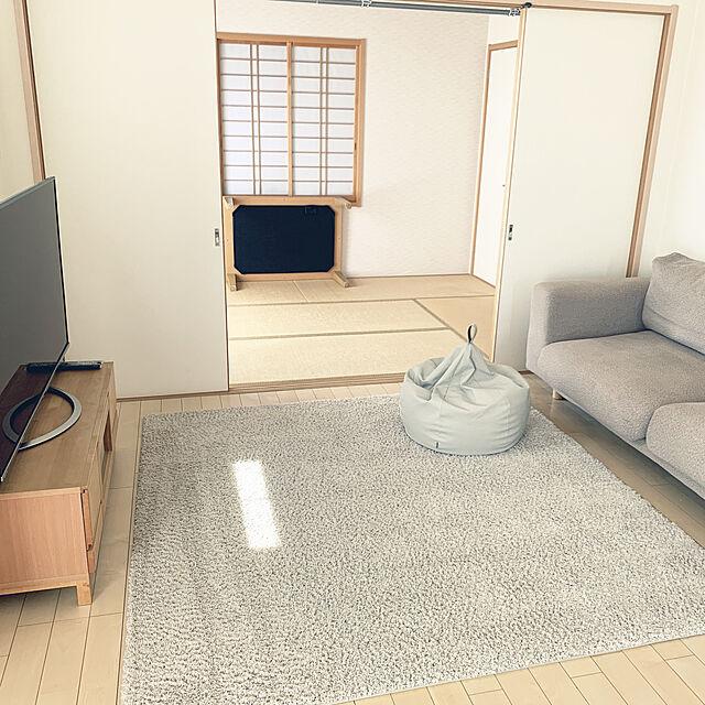 ビーズクッション,シンプルでスッキリ見えるインテリア,必要最低限で暮らす,Lounge RMK-Kの部屋