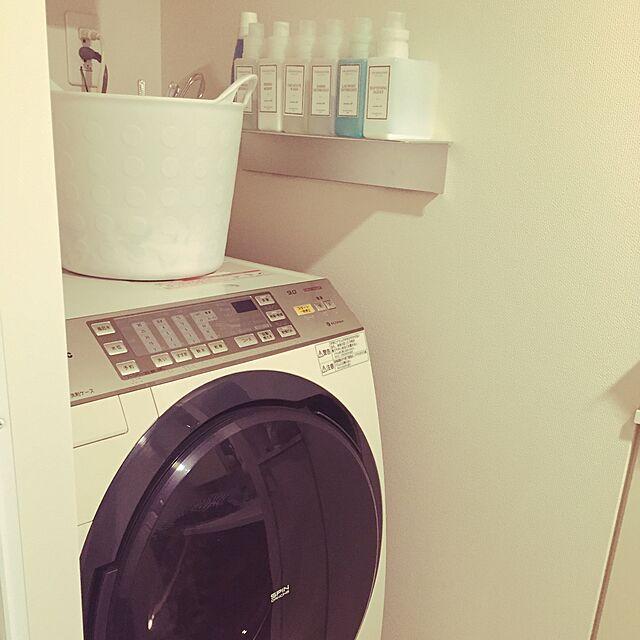 Bathroom,無印良品 壁に付けられる家具,洗濯機 emの部屋