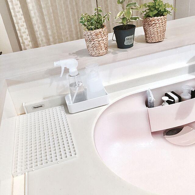 Kitchen,パナソニックキッチン,白が好き,白,キッチン,シンプル,モノトーン,ホワイト,観葉植物,100均,すっきりさせたい,ピンク yoshi-piの部屋