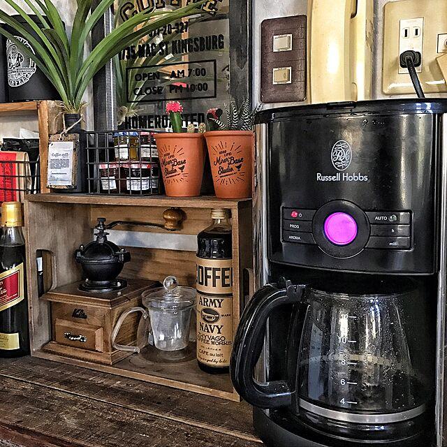 kalita,Russell Hobbs,コーヒーメーカー,コーヒーミル,お気に入り,カフェコーナー,DIY,木箱,NO GREEN NO LIFE,見せる収納,ARALE WORKS,ダイソー,natural kitchen chobiの部屋