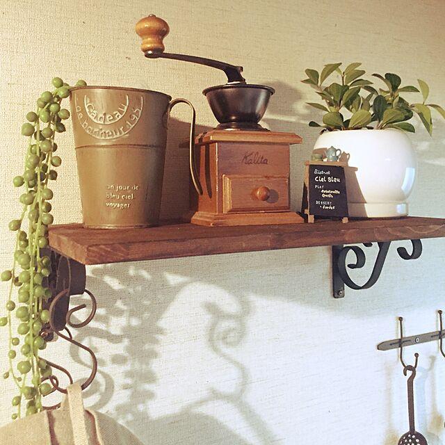 On Walls,カリタのコーヒーミル,シンプルナチュラル,ナチュラル,DIY,グリーンのある暮らし,いいね!フォロー本当に感謝です(^人^),観葉植物増やしたい,築年数高めの家をいい味付けたい,カフェ風 mayuの部屋