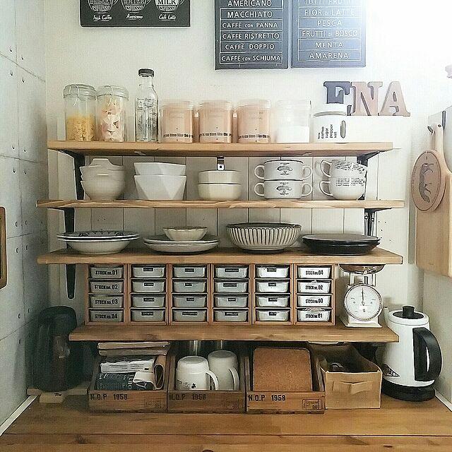 Kitchen,DIY,見せる収納,DIY食器棚,niko and… ,ニトリ,セリア,100均,ダイソー,収納,IKEA,3coinsアルファベット,ACME FURNITURE,ドレッシングボトル cocotteの部屋