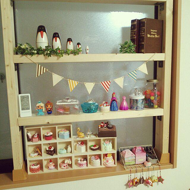My Shelf,雑貨,セリア,100均,フェイクグリーン,ディアウォール棚,ホイップる Batakoの部屋