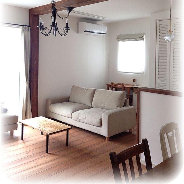 Overview,無印ソファ,珪藻土,無垢の床,ウッドワン,お引越し tomoの部屋