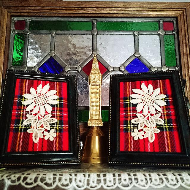 My Shelf,英国好き,イギリスアンティーク,アンティーク,アンティークステンドグラス,ハンドメイド,フォトフレームリメイク,シルバニアの家に憧れて,古着リメイク,コールベル madeleineの部屋