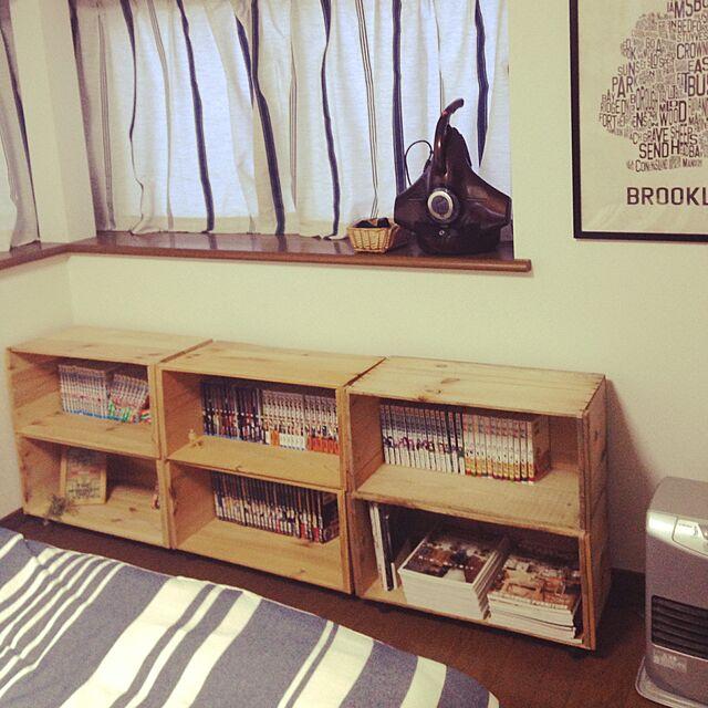 Bedroom,りんご箱,hal36さん,中古住宅 yukaの部屋