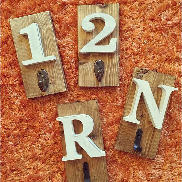 Lounge,DIY,ブライワックス ジャコビアン,セリア,イニシャル ,meets,ハンガーフック ryw11の部屋