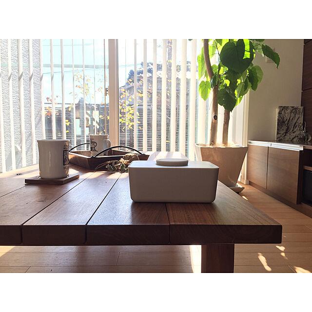 My Desk,コーヒータイム,ウェットティッシュケース,sarasadesign,マスターウォール,バーチカルブラインド,センターテーブル,ウンベラータ,テレビボード,お尻拭き harunakiyoの部屋