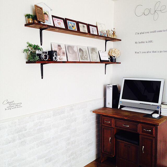My Desk,手作り発泡スチロールレンガ腰壁,手作りセリア飾り,ブログやってます♪,RC兵庫支部 Hiroko-k-nightskyの部屋