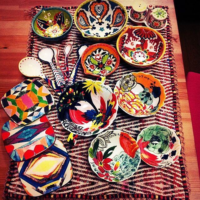 Kitchen,計量カップ,コースター,花柄,食器類,アンソロポロジー,ランチョンマット eriの部屋