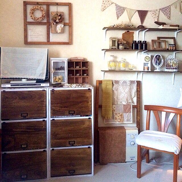 Bedroom,カラーボックス hinano1017の部屋