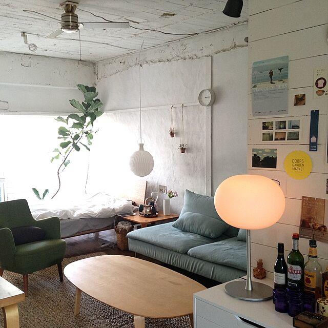 Overview,無印良品,ソファ,Jasper Morrison,照明,IKEA,植物,レクリント,ベッド towaの部屋
