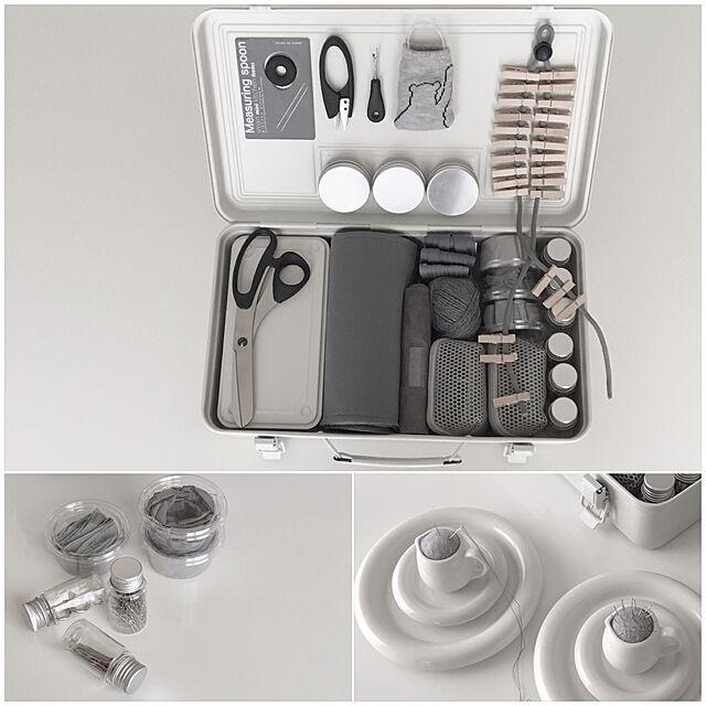 My Desk,マグネット大活躍,ピンクッション,裁縫道具,スチール,無印良品 工具箱,無印良品,収納,White,スッキリ,ホワイト mmの部屋