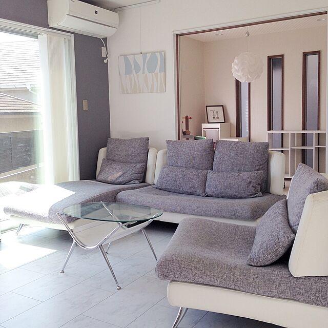 Lounge,レクリント,バーチカルブラインド,リビングテーブル,ホワイト×グレー,ホワイトインテリア,大理石調,ソファー,シンプルインテリア yumiの部屋