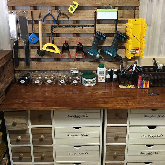 My Shelf,マキタ,工具棚,スノコ,賃貸でも楽しく♪,ブライワックス hukurou2128の部屋