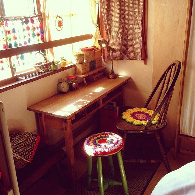 Bedroom,編み物,レトロ好き*,手芸,レトロ,雑貨,ヨーヨーキルト booooono_poofの部屋