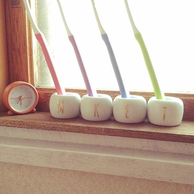 歯ブラシスタンド,無印良品,セリア,Bathroom ellye_ellyの部屋