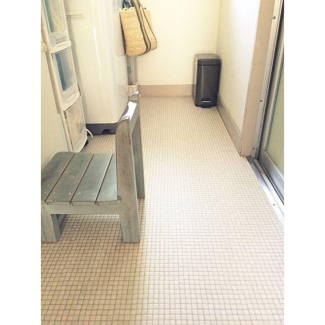 Bathroom,椅子,リメイク,レトロ,DIY,クッションフロア,賃貸DIY mutsumiの部屋