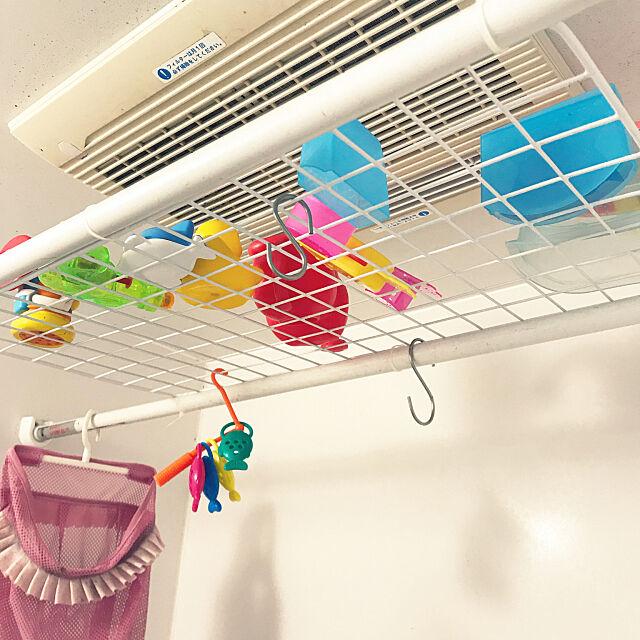 Bathroom,お風呂おもちゃ収納,浮かせる収納,100均,ダイソー mari51の部屋