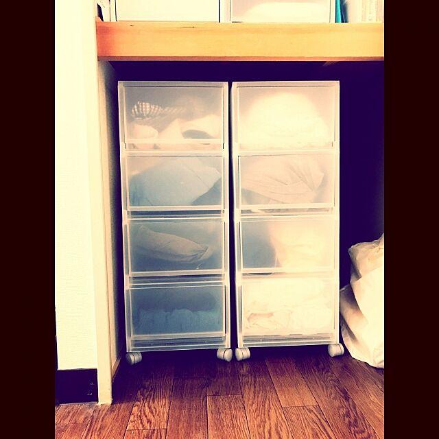 My Shelf,衣替え,クローゼット収納,無印良品収納ケース,無印良品,ナチュラル,一人暮らし nonkabigonの部屋