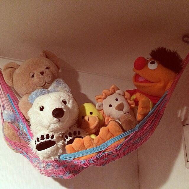 My Shelf,プロフ画変えました,セサミストリート,キッズルーム,ハンモック,子供部屋,旭山動物園,ぬいぐるみ収納,ぬいぐるみ maiの部屋