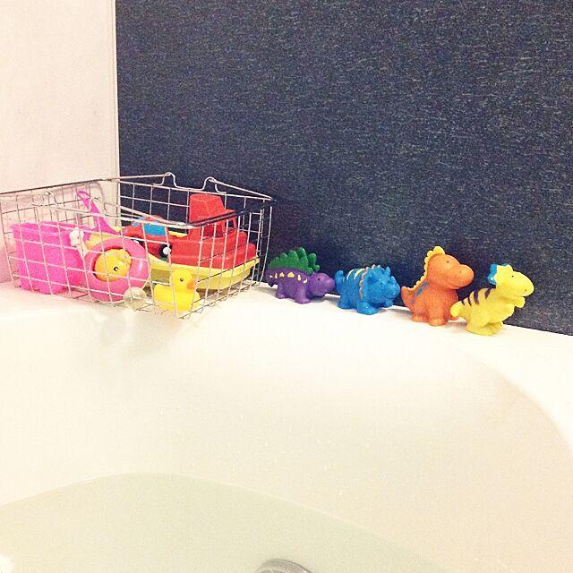Bathroom,水切りカゴ,カゴ/バスケット,恐竜,お風呂おもちゃ phooの部屋