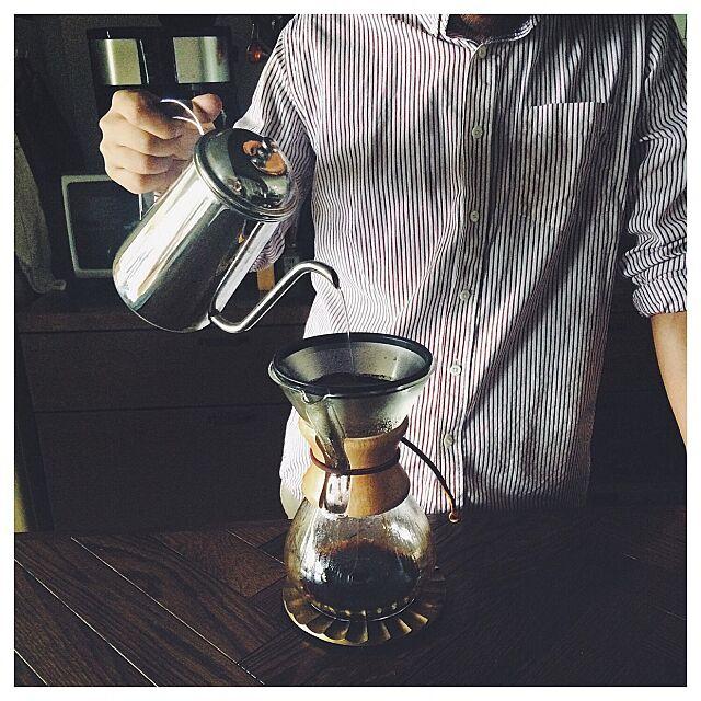 Kitchen,ステンレスフィルター,kone coffee filter,ケメックス,coffee,海外インテリアに憧れる,カリフォルニアスタイル,ミックスインテリア,IG→manahana8,ブルックリンスタイル manahana8の部屋