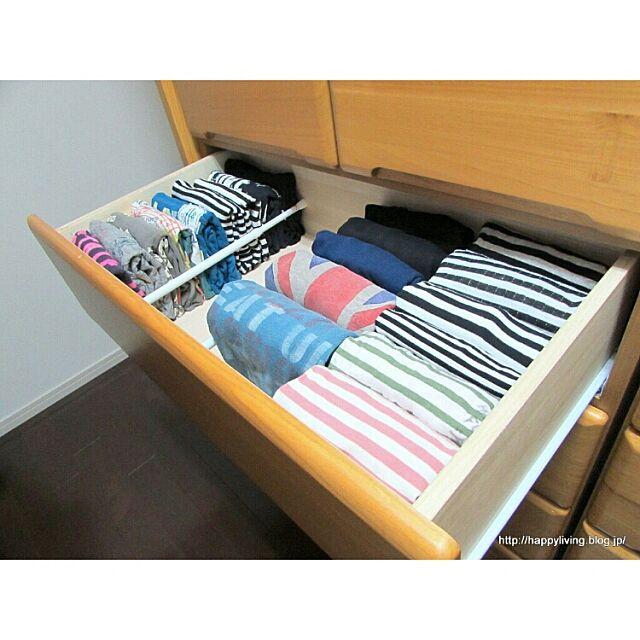 Bedroom,つかなお流『人生がどよめく片付けの阿呆』,Tシャツ,つっぱり棒が好き♥,整理収納部 naoの部屋