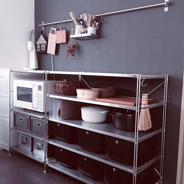 Kitchen,無印良品週間,無印良品 収納,ステンレスユニットシェルフ,小沢賢一,わらびかご,曲げわっぱのお弁当箱,硬質パルプボックス maydayの部屋