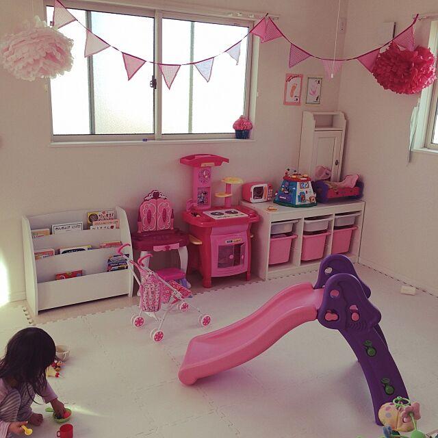 Overview,IKEA,ホワイト大好き,Kids kitchen,kidsroom,TROFAST,おもちゃ収納棚 ariの部屋