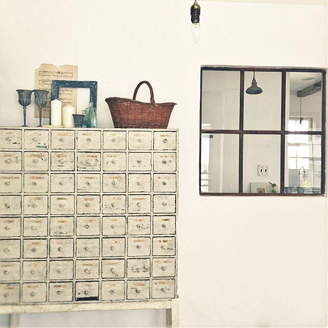 My Shelf,ドロワー,アンティーク,ナチュラルフレンチ,窓,白,漆喰壁 midoriの部屋