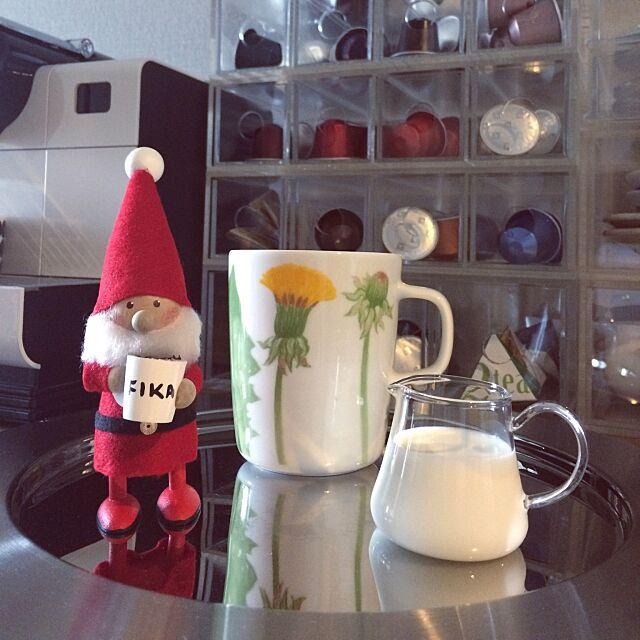 Kitchen,NESPRESSO,無印良品,マグカップ,ミルクピッチャー,木村硝子,marimekko,マリメッコ,北欧,クリスマスディスプレイ,クリスマス,すっきり暮らしたい,シンプル,ノルディカニッセ,北欧雑貨,北欧インテリア,雑貨,クリスマス雑貨,一人暮らし,ひとり暮らし,カフェタイム,カフェコーナー,アクリルケース,無印良品 収納,Iittala skyblueの部屋